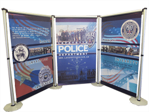 custom police event banners by glgraphix lafayette indiana