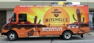 glgraphix lafayette indiana custom food truck wrap for mitchell's