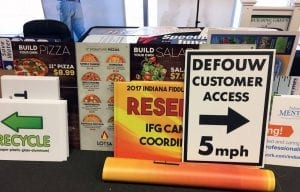 custom signage for defouw by glgraphix lafayette indiana