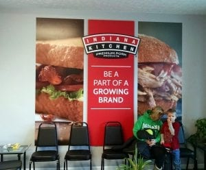 welcome customers to your business with a wall graphic by glgraphix lafayette indiana