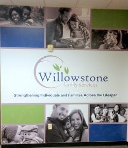 willowstone wall graphic by glgraphix lafayette indiana