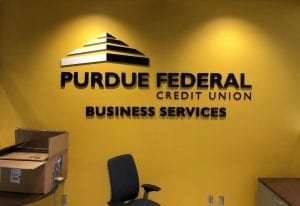pefcu wall graphic by glgraphix lafayette indiana