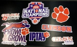 glgraphix lafayette indiana created a sport wall graphic for clemson