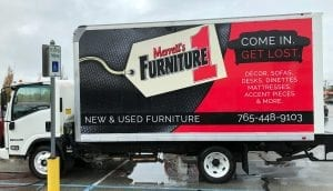 make your furniture business stand out with a vehicle wrap by glgraphix lafayette indiana