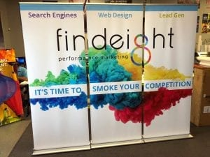 glgraphix created beautiful event banners for find8 performance marketing lafayette indiana