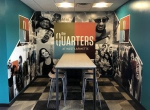 the quarters custom wall graphic by glgraphix lafayette indiana